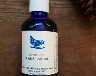 Cardamom Bath and Body Oil, Essential Oils, On a Branch Soaps