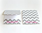 blank mini note cards grey chevron matchbook style mini cards set of 6 handmade miniature cards matchbook folded cards lunch box note