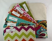ON SALE Budget Envelope System, Cash Envelope Wallet, Pouch and 5 to 15 Envelopes -Funky Pasley- (It can be used with the Dave Ramsey system