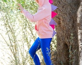 Dinosaur Hoodie Pink, Dino Hoodie Girl Pink, Dinosaur Costume, Dress Up Clothes, Play Clothes, Halloween Costume