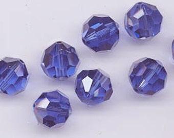 "Eight Swarovski crystals with ""satin"" effect - sapphire satin - 12 mm"