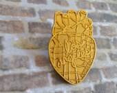 LA Heart of Gold Pin