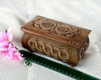 Jewelry box Wedding ring jewellery box Wooden box Ring box Jewelry wood carving box Wedding jewelry box Jewelry box wood Wedding jewelry Q1