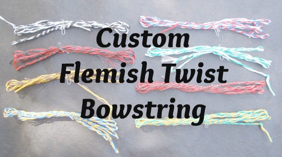 Flemish Twist Bowstring: Handmade, Made to Order in your colors. For traditional archery longbow recurve reflex deflex