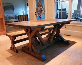 Atlanta Farm Tables | Chavers X Trestle Table | Rustic X Table
