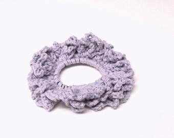 Cotton Crochet Hair Scrunchie, Crochet Hair Accessories, Crochet Hairbands, Crochet Hair Ties. FREE UK Delivery