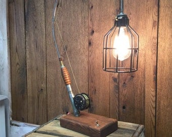 Antique Fly Rod Lamp