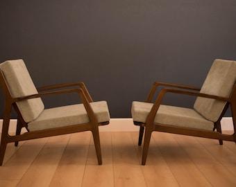 Danish Modern Ib Kofod Larsen Lounge Chairs