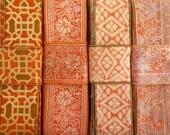 Orange Sari borders, Sari Fabrics SR397