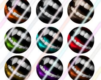 """Vamp it up 1"""" Bottle Cap Image 4x6 Digital Collage Sheet 2 Instant Download"""