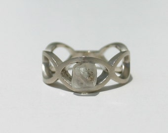 Natural Untreated 1.60 Carat Rough Diamond Engagement Ring Solid 18kt White Gold ~ Gem Quality