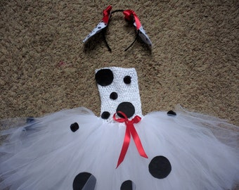 Dalmatian Puppy Dog Tutu Dress Costume