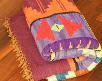 Folk Art Multicolor Rug – Handwoven in Ayacucho, Peru –Large 5x7