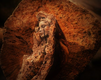 Reserved for Page, Nov. 3 of 3, A Crack in Everything, Driftwood Woman With Tear by ShaingSpirit