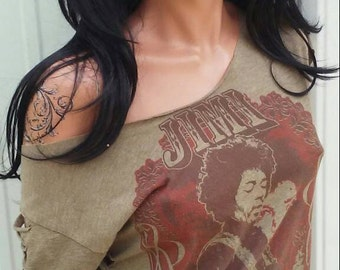 Jimi Hendrix Shredded Shirt Rock N Roll Vintage Shirt