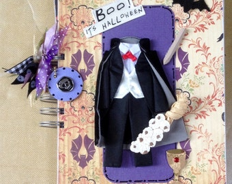 Dracula BOO Halloween Pre Made Chipboard Scrapbook Album * Just Add Photos *