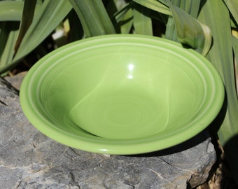 Vintage Chartreuse Fiesta Bowl, Fiestaware Cereal Bowl, Retired, Discontinued, Lime Green #1