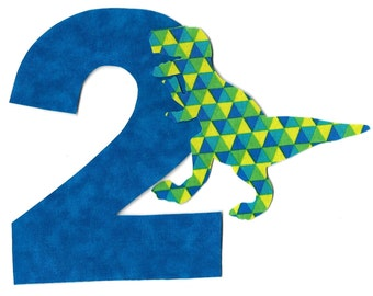 DIY iron on number applique pick any number plus dinosaur - birthday, anytime