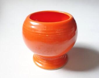 Vintage Fiesta Marmalade Jar Original Red Orange Homer Laughlin