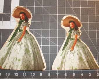 2 ~ Scarlett OHara Gone With The Wind Appliques Iron On Instructions Included