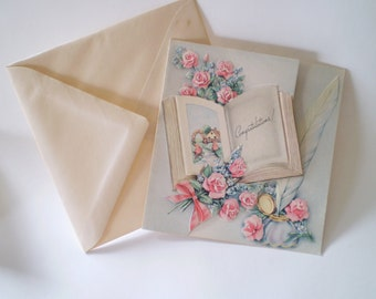 Vintage 40's Merchant Cards // Vintage Greeting Congratulations Cards // w envelopes //Free Shipping // Collectible