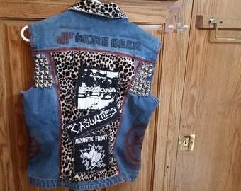 Punk rock denim vest
