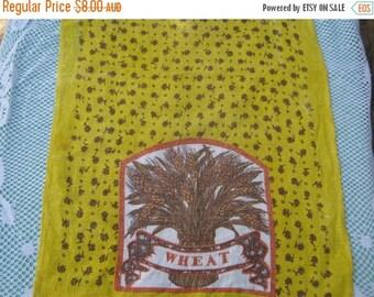 ON SALE On Sale - Tea Towel Vintage features Wheat