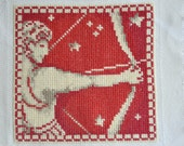 Finished / Completed Cross Stitch - Lanarte - Red Signs of the Zodiac: Sagittarius (34980) crossstitch counted cross stitch