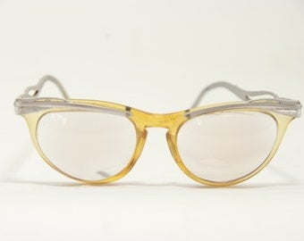 Vintage U/Z Cat Eye Eyeglass Frames, Vintage Cat Eye Glasses, 5 1/2 U/Z Glasses