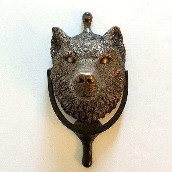 Wolf at the door by davidleepancake on etsy - Wolf head door knocker ...