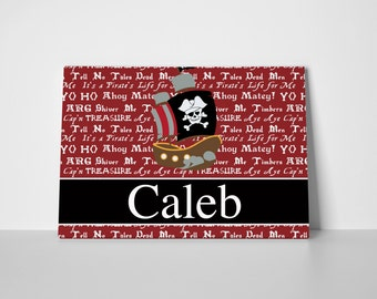 Personalized Pirate Gallery Wrapped Canvas