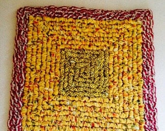 Hooked Table Mat Etsy