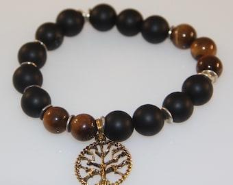 Mens Tree Of Life Bracelet-Mens Bracelet-Tree Of Life Charm-Bracelet for men-Healing Bracelet-Yoga Bracelet-Gift For Him-Mens Jewelry-
