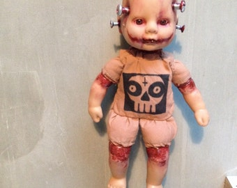 Handmade doll keychain horror zombie