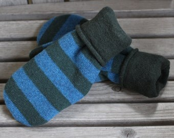 Wool Mittens, Sweater Mittens, Upcycled Wool Sweater Mittens, Felted Sweater Wool Mittens, Wool Gloves, Recycled Wool Sweater Mittens