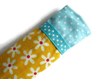 Protective Sleeve For Emery Board - Nail File Case - Emery Board Cover - Ribbon Detail