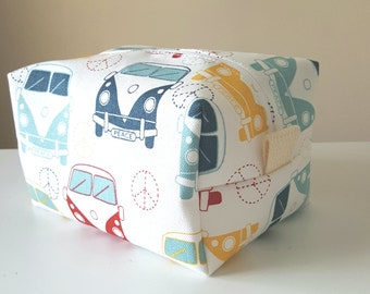 VW Bus Makeup Bag - Modern Cosmetic Bag - Large Makeup Bag - Waterproof Makeup Bag - Bridesmaid Gifts