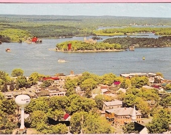 """Ca. 1985 """"Alexandria Bay"""" New York Topographical Picture Postcard - 732"""