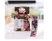 DIY Removable Adhesive Masking Deco Washi Tape - Black Cherry Blossom (1.5 cm width)
