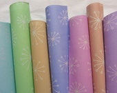 Gift Wrap - Star burst / Allium design - 7 different colours to choose from