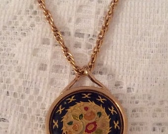 Victorian Revival Pendant, Floral, Vintage Jewelry, SUMMER SALE