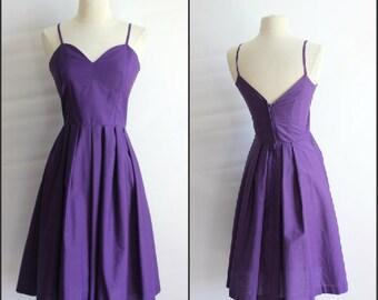 Womens simple, 1950s style, handmade cotton dress