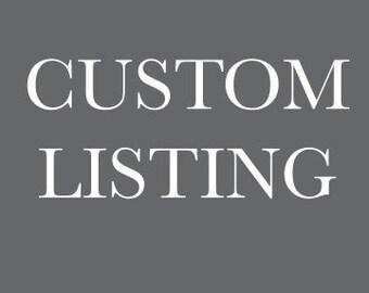 Custom Listing for Lauren- Shipping