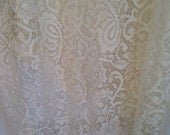 Sale !!   Vintage Lace Curtain Panel, Single Cream Lace Curtain, Sheer Lace Curtain, Beige Lace Fabric, Lace Drapery