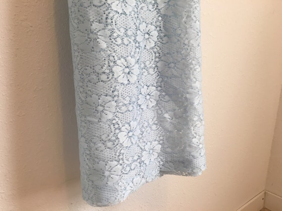 Vintage Curtains Lace Curtains Blue Lace by YourAuntiesPanties