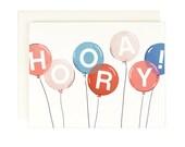 Hooray Balloon Card