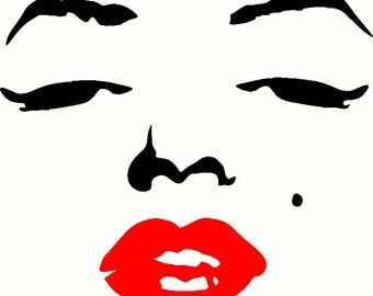 Face wall decal 2