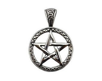 Woven Pentagram Pendant - Titanium, Pentacle, Witchcraft, Pagan wiccan, Pentagram star, Witch amulet, Five point star