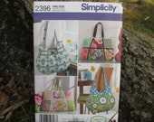 Simplicity Pruse Pattern Sweet Pea Totes Pattern 2396 Tote Pattern