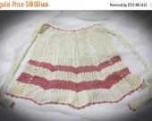 20% Heart Sale Vintage Handmade Crochet Waist Apron-Gorgeous